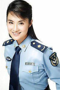 The accomplished of chinese gals in Uniform P-L-P